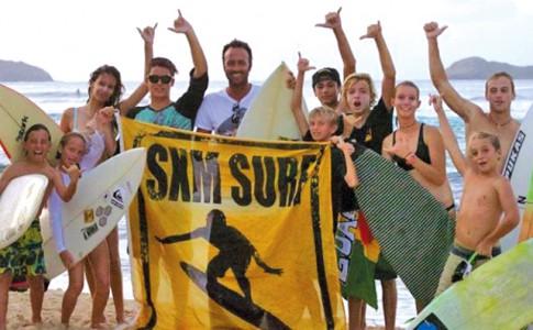 Les jeunes surfeurs à l'honneur