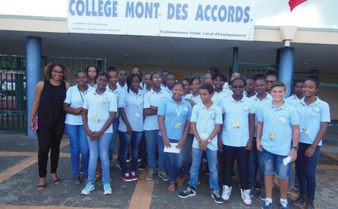 Les élèves qui participent au projet