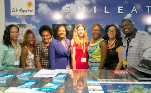 Diana Gumbs (Holland House Beach Hotel), Idryssa Gumbs, Sabrina Lepasteur, Ramonna Connor (Collectivité), Elodie Crespin (Riue Palace), Jeanne Rogers-Vanterpool (Office de Tourisme de St. Martin), Joan Samson (Divi Little Bay Beach Resort), Grégoire Dumel (Office de Tourisme de St. Martin)
