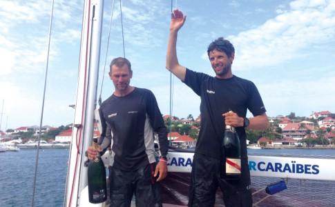 26-04-16-Thierry-Chabagny-et-Erwan-Tabarly,-vainqueurs-de-la-13e-transat-AG2R-La-Mondiale