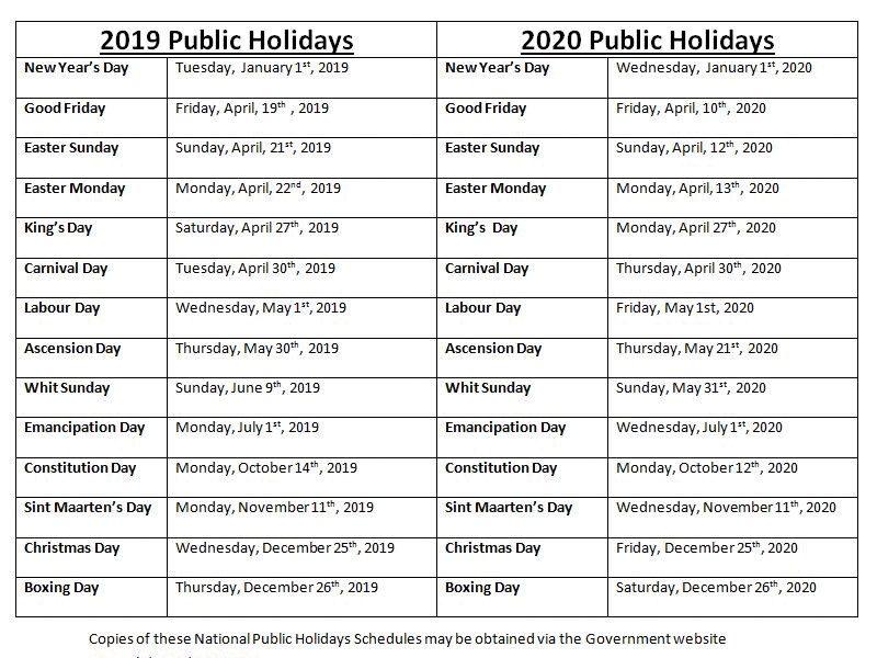 Calendrier Feries 2019.Info Pratique Calendrier Des Jours Feries 2019 2020 En
